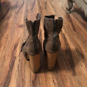 Steve Madden Shoes - Steve Madden wooden heel military style boots!